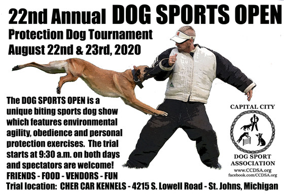 Dog Sports Open Protection Tournament presented by Capital
